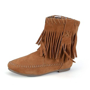 Women's Boots Ankle Boots Low Heel Suede Shoes