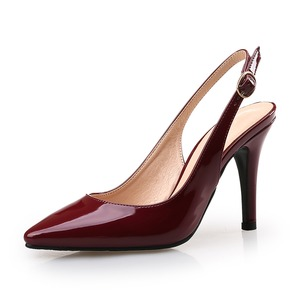 Women's Pumps Closed Toe Slingbacks Heels Stiletto Heel Patent Leather Shoes