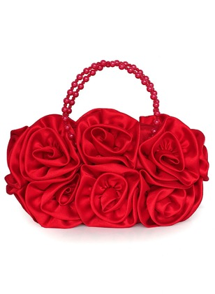 Totes Fashion Polyester Black White Red Apricot Rose Small Bags