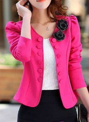Cotton & Cotton Blend Black Pink Rose White Short Long Sleeve Other Coats & Jackets