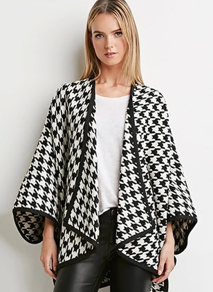 Polyester Black Long Long Sleeve Other Coats & Jackets