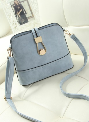 Shoulder Fashion PU Sky Blue Small Bags