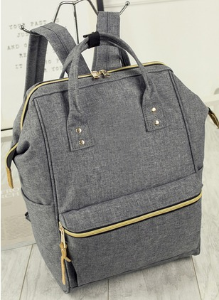Backpacks Fashion Canvas Black Gray Large Bags