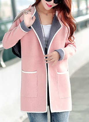 Wool & Wool Blend Gray Pink Rose Yellow Long Long Sleeve Other Coats & Jackets