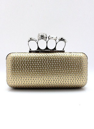 Clutches Fashion PU Gold White Silver Small Bags