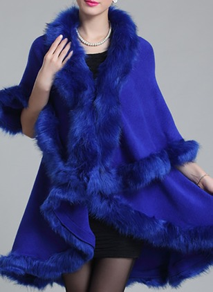 Shearling & Faux Shearling Black Burgundy Red Royal Blue Coffee Long Long Sleeve Lapel Coats & Jackets