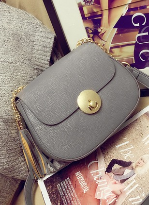 Shoulder Fashion PU Black Gray Red Small Bags