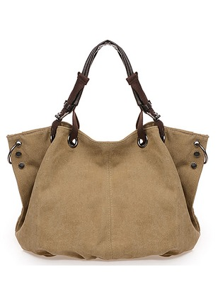 Totes Fashion Canvas Coffee Khaki Sky Blue Brown Large Bags