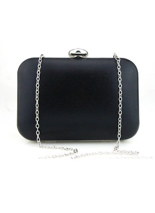 Clutches Fashion PU Black Gold Silver Apricot Small Bags