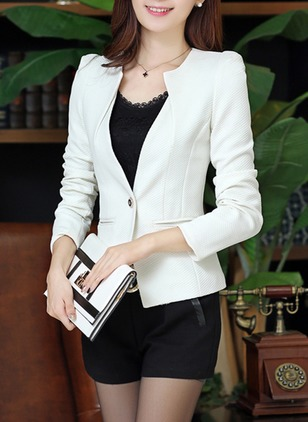 Polyester Black Pink White Yellow Short Long Sleeve Other Coats & Jackets