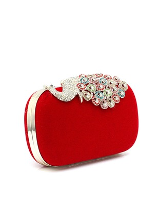 Clutches Fashion Polyester Black Red Medium Bags