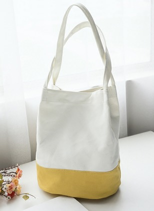 Shoulder Fashion Canvas Black Rose Yellow Medium Bags