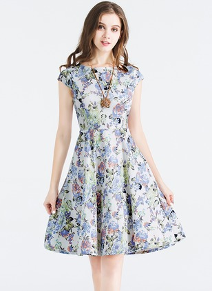 Floryday - M Cap-Sleeve Knee-Length Dresses