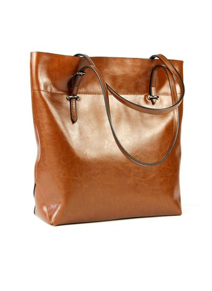 Shoulder Fashion Real Leather Black Burgundy Orange Brown Large Bags