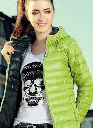 Polyester Black Blue Green Red Short Long Sleeve Hooded Coats & Jackets