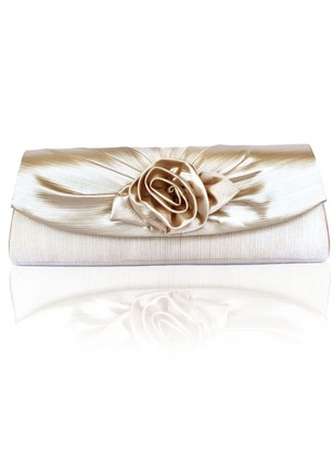 Clutches Fashion Polyester Black White Red Silver Apricot Pink Rose Royal Blue Small Bags