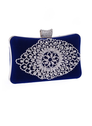Clutches Vintage Polyester Black Gold Blue Red Rose Small Bags