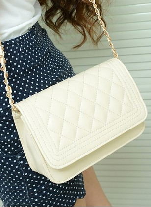 Shoulder Fashion PU Black White Beige Rose Lime Green Small Bags