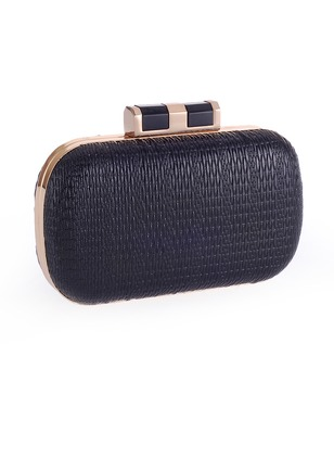 Clutches Fashion Polyester Black Gold Silver Small Bags