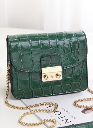 Shoulder Fashion PU Black Red Green Small Bags