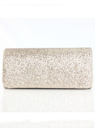Shoulder Clutches Fashion Polyester Black Gold Silver Small Bags