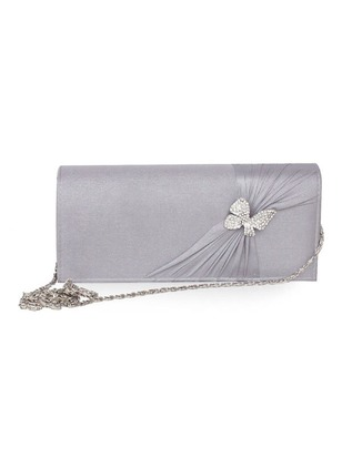 Clutches Fashion Polyester Gray Medium Bags
