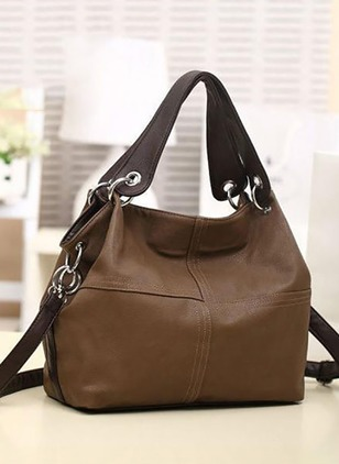 Totes Fashion PU Black Khaki Brown Large Bags
