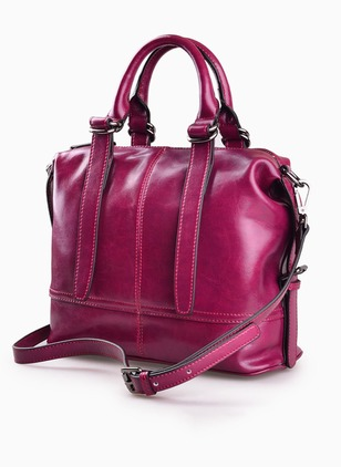 Shoulder Fashion Real Leather Black Brown Purple Large Bags