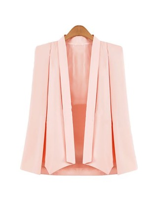 Polyester Black Pink White Long Long Sleeve Other Coats & Jackets
