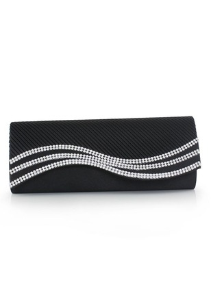 Clutches Fashion Polyester Black White Red Medium Bags