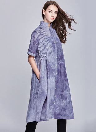 Linen As Picture Long Long Sleeve Other Coats & Jackets