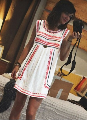 Polyester Stripe Sleeveless Above Knee Casual Dresses  ...