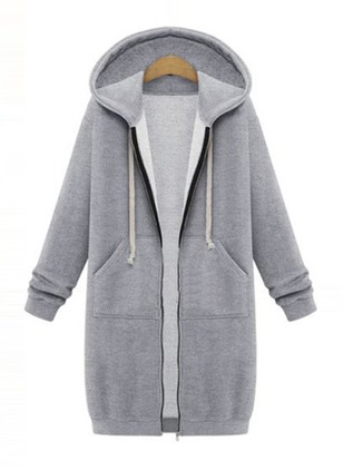 Cotton & Cotton Blend Gray Long Long Sleeve Other Coats & Jackets