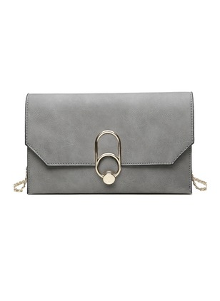 Shoulder Fashion PU Black Gray Pink Medium Bags