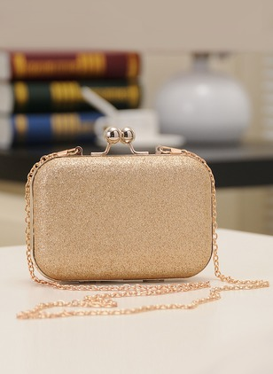 Clutches Fashion Sparkling Glitter Gold Blue Small Bags