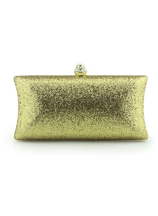Clutches Fashion PU Gold Red Small Bags