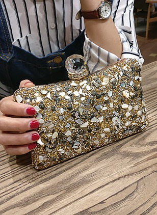 Shoulder Fashion PU Black Gold Silver Small Bags