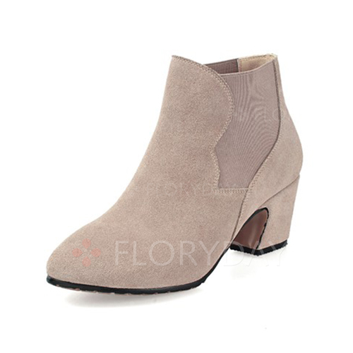 New Womens Ankle Boots Suede Chunky High Heel Platform Lace Up Casual Shoes Taupe | EBay