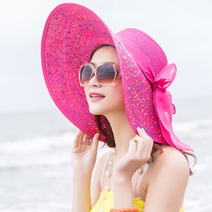 Casual Straw Bow Others Geometric Hats