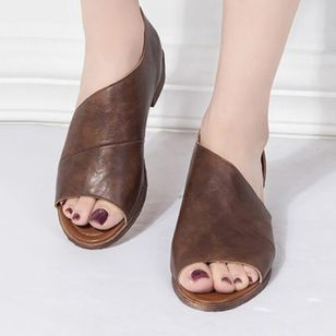 Peep Toe Low Heel Shoes