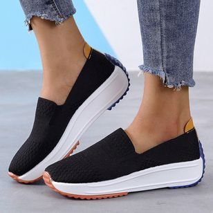 Sepatu kets Wanita Closed Toe Kain Tumit Wedge Hollow-out (4074120)
