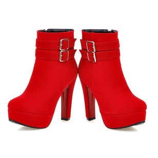 Women's Boots Ankle Boots Stiletto Heel Nubuck Shoes