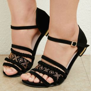 Women's Buckle Flats Flat Heel Sandals (1484250)