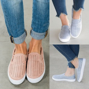 Hollow-out Closed Toe Tumit datar Sepatu