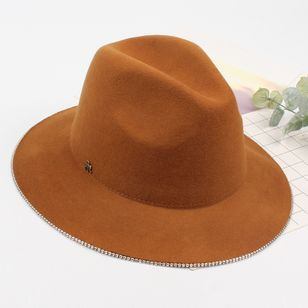 Casual Beading Solid Hats