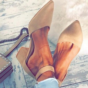 Ankle Strap Pointed Toe Chunky Heel Shoes