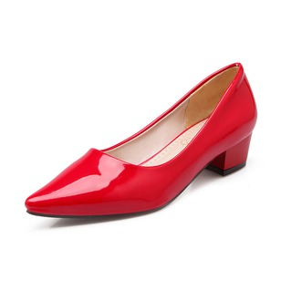 Women's Pumps Pumps Closed Toe Low Heel Patent Leather Shoes