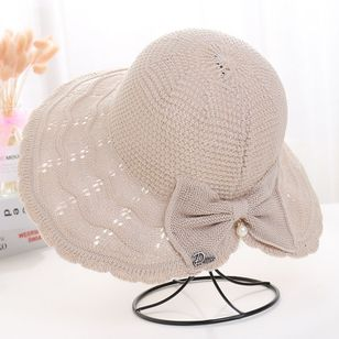 Casual Bow Solid Hats (147183038)