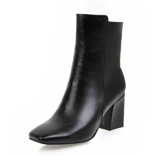 Others Ankle Boots Leatherette Chunky Heel Shoes
