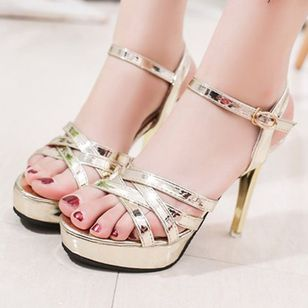 Buckle Hollow-out Heels Stiletto Heel Shoes